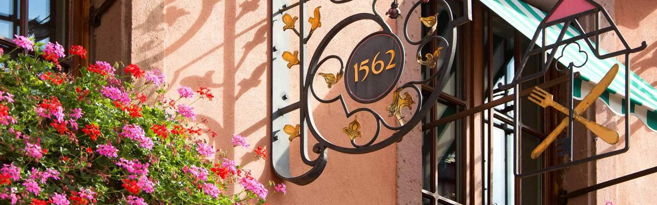 Facade of our luxury hotel in Alsace, Le Marechal