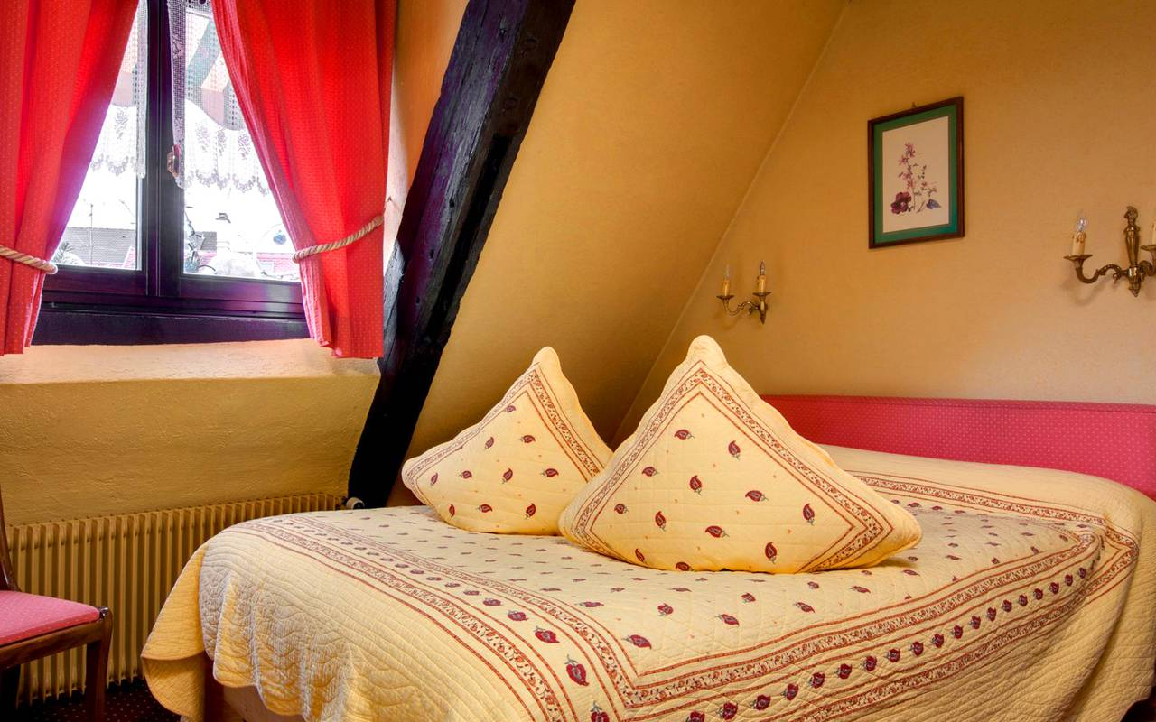 View of the single room, boutique hotel Alsace, Le Maréchal