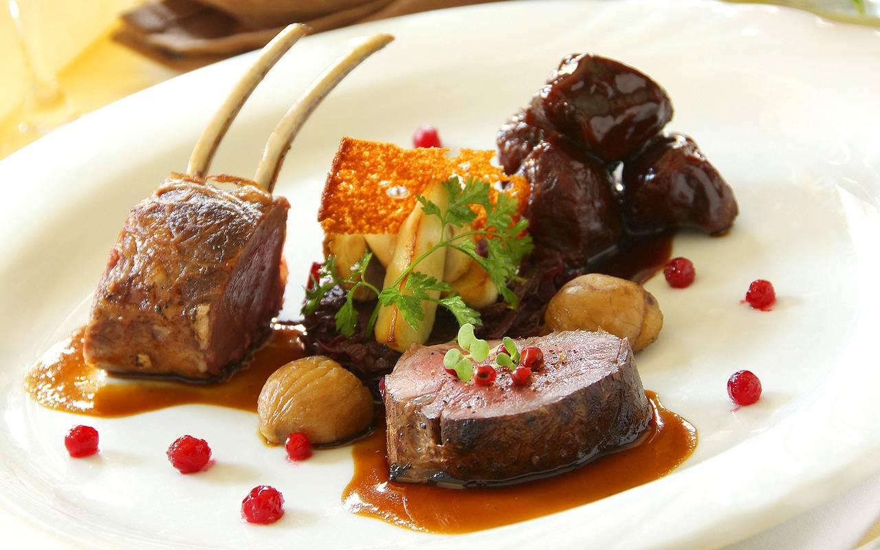 Meat dish, restaurant Colmar Alsace, À L'Echevin, Le Marechal