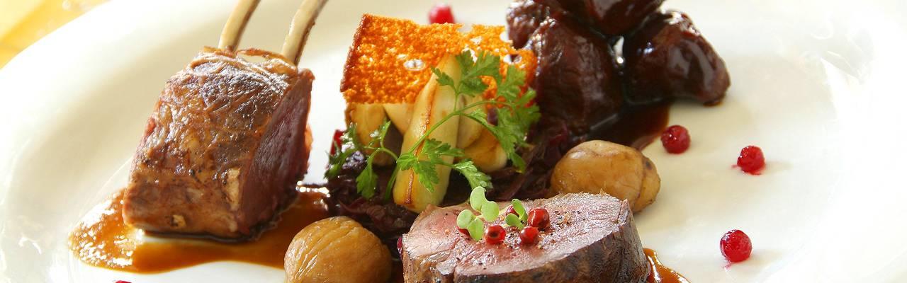 Plat de viande, restaurant gastronomique à Colmar, Alsace, À L'Echevin, Le Marechal