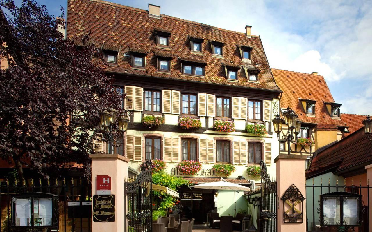 vue extérieure de notre hôtel à Colmar à La Petite Venise, Le Maréchal