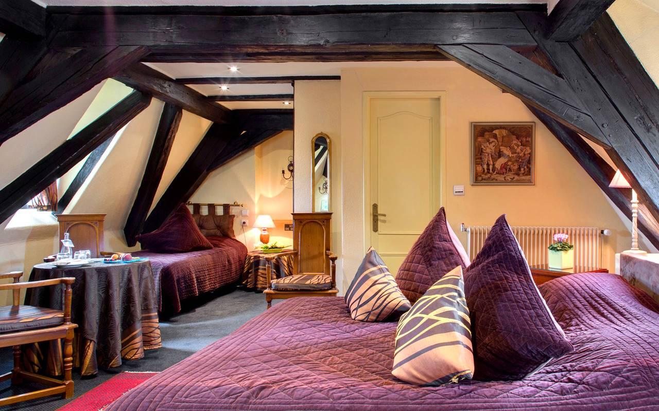 Chambre Triple, hôtel luxe Colmar, Le Maréchal