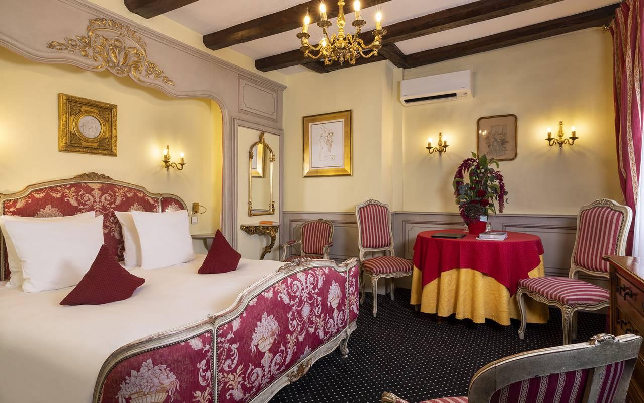 Chambre Double Deluxe & King Size, hôtel luxe Colmar, Le Maréchal