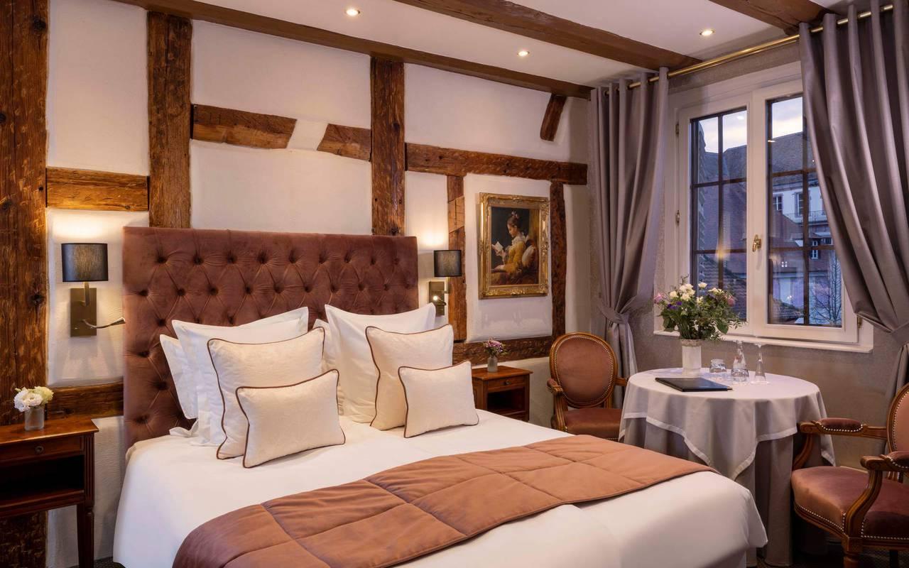 Chambre Double Confort, hôtel luxe Colmar, Le Maréchal