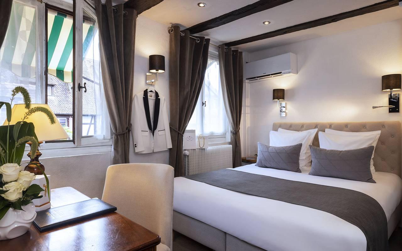 Chambre Double Classique, hôtel luxe Colmar, Le Maréchal