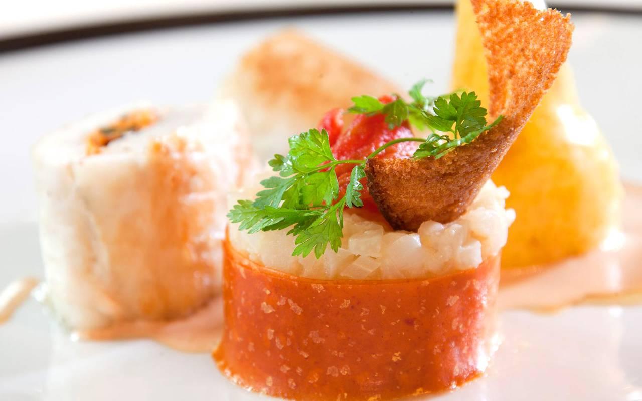 Plat gastronomique, restaurant gastronomique à Colmar, Alsace, Le Marechal