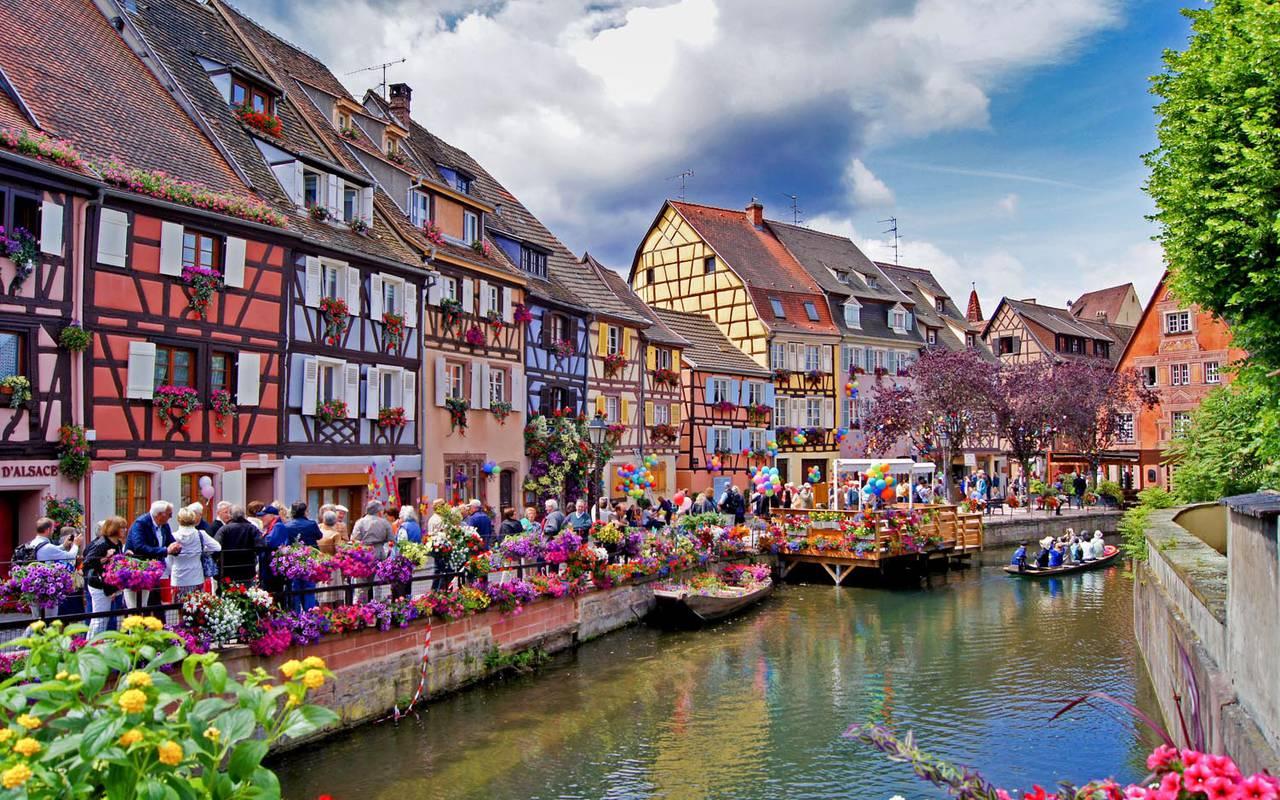 Quartier de la Petite Venise de Colmar hôtel de charme Alsace Le Maréchal
