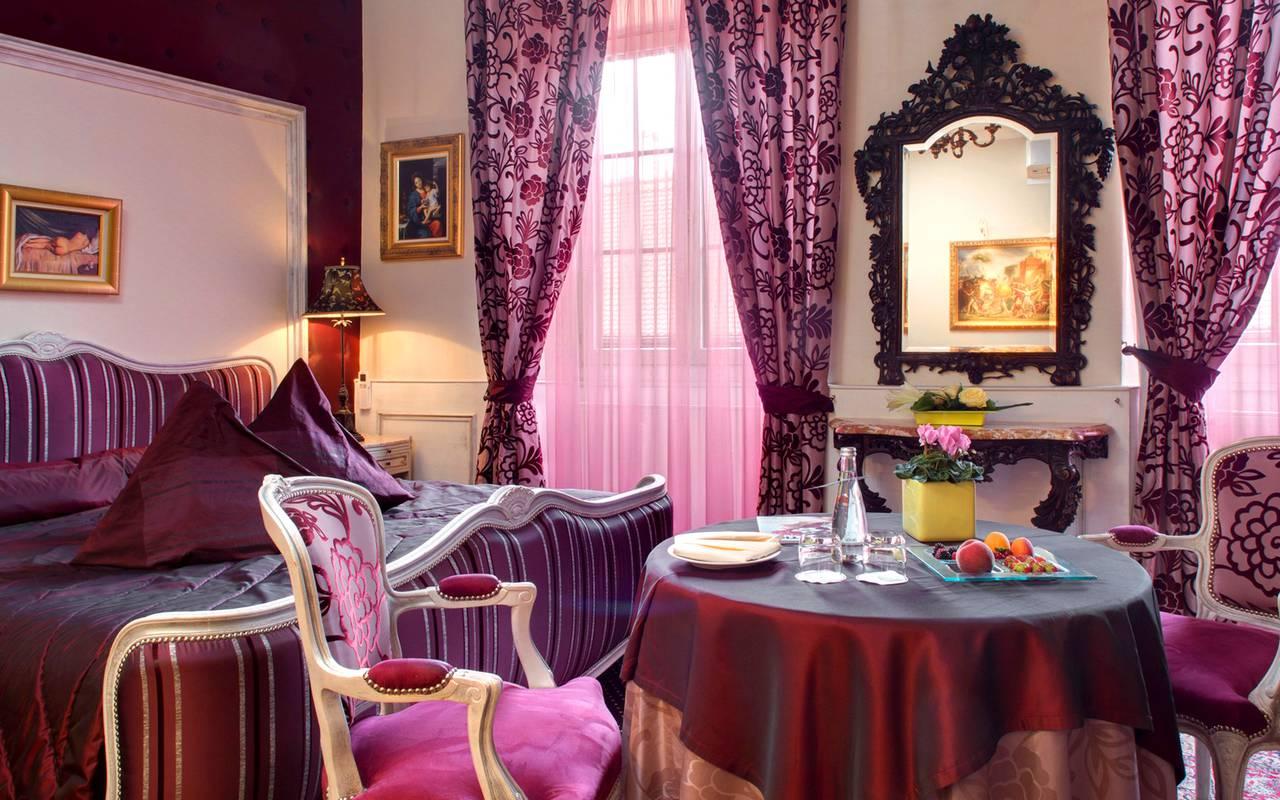 Chambre romantique hôtel Colmar Centre Le Maréchal